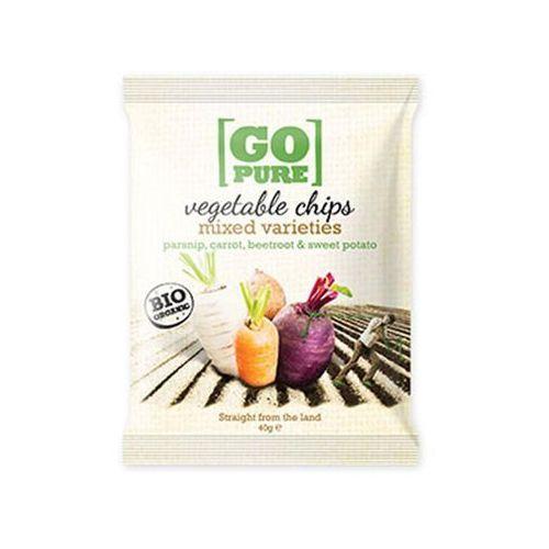 Chipsy warzywne mix bezglutenowe bio 40 g gopure marki Go pure