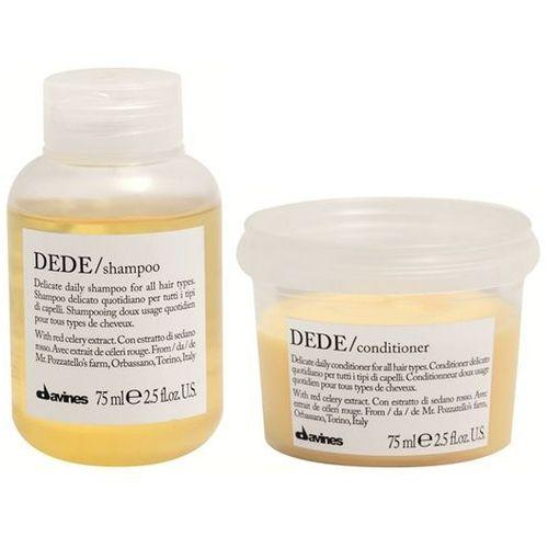 Davines DEDE Mini Zestaw do każdego rodzaju włosów | szampon 75ml + odżywka 75ml