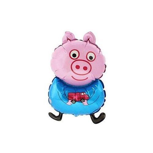 Balon foliowy do patyka świnka peppa niebieska - 32 cm - 1 szt. marki Go
