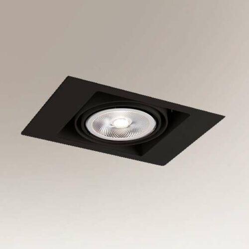 Shilo Wpuszczana lampa sufitowa muko 7347 prostokątna oprawa podtynkowa metalowy wpust czarny