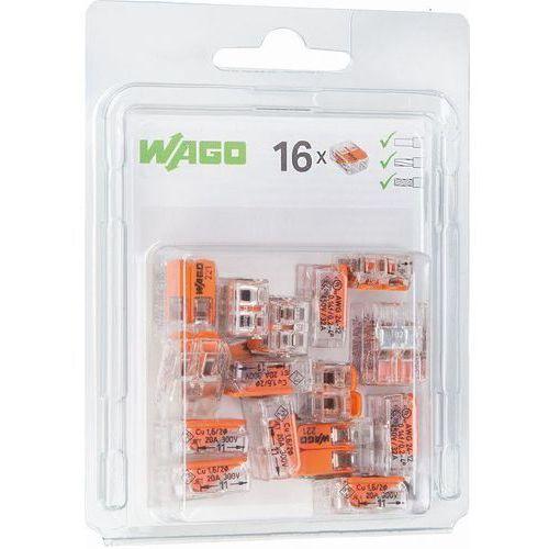 Zacisk instalacyjny szybkozłączka Wago 2x0,2-4mm2 transparentna / pomarańczowa 221-412 blister 16szt 0221-0412/0996-0016 (4055143459051)