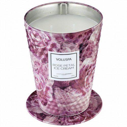 Voluspa świeca rose petal ice cream giant 737g - wosk kokosowy, dwa knoty
