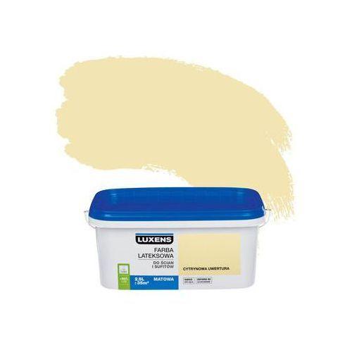Farba wewnętrzna do ścian i sufitów EMULSJA 2.5 l Cytrynowa uwertura LUXENS, kolor żółty
