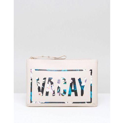 New Look Vacay Zip Top Travel Bag - White
