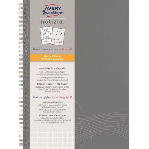 Avery zweckform Kołozeszyt notizio basic 7013 a4/80k. kratka