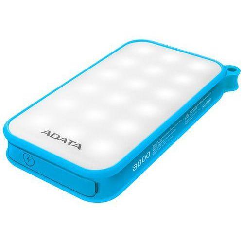Powerbank d8000l (8000 mah) niebieski marki Adata