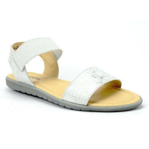 Sandały Lesta 221-1243-1-85A8 biały/srebrny, w 5 rozmiarach