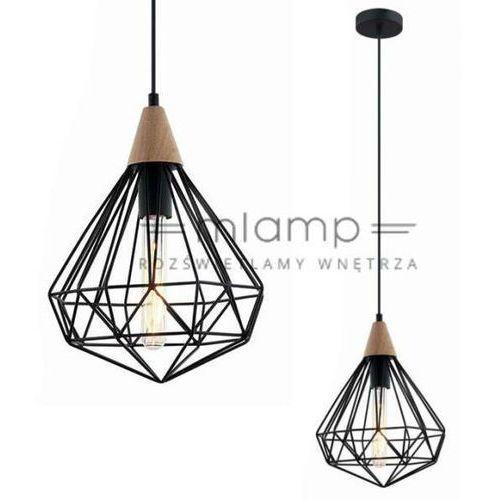 Industrialna LAMPA wisząca MAELLE MDM-2591/1S BK Italux druciana OPRAWA zwis drut czarny (1000000200690)