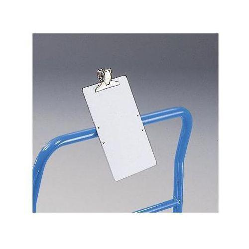 Tablica do opisywania z PVC, z zaciskiem do papieru, dł. x szer. 330x222 mm. Tab