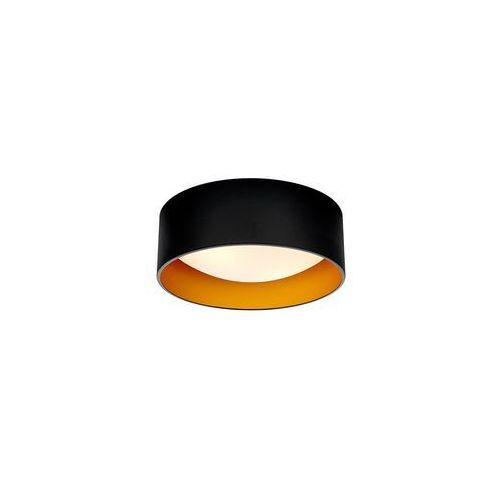 Kaspa - Plafon Vero S - czarno-złoty, kolor Czarny
