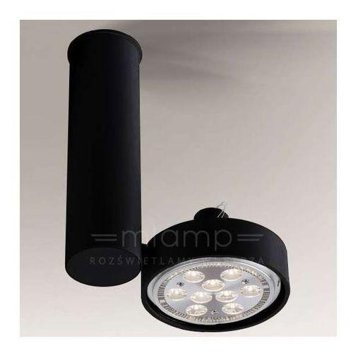 Spot LAMPA sufitowa NATORI 2208/GU10/CZ Shilo regulowana OPRAWA reflektorowa tuba czarna, 2208/GU10/CZ