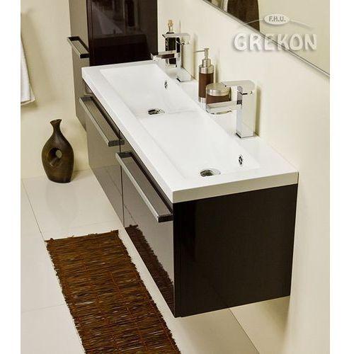 Szafka łazienkowa z umywalką 120/39/2 fokus wenge połysk marki Gante