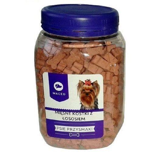 MACED Ciastka dla psa - mięsne kostki z łososiem 300g