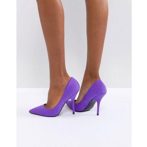River Island Scuba Heeled Court Shoes - Purple