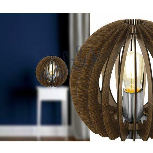 Eglo cossano lampa stołowa brązowy, 1-punktowy - nowoczesny - obszar wewnętrzny - cossano - czas dostawy: od 8-12 dni roboczych (9002759949563)
