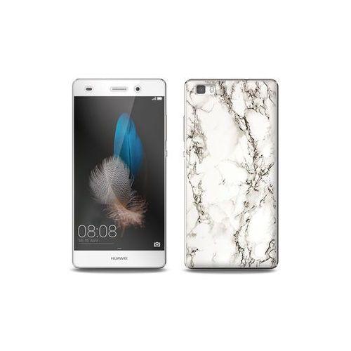 Huawei p8 lite - etui na telefon full body slim fantastic - biały marmur marki Etuo full body slim fantastic