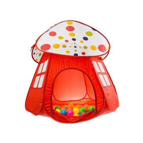 Namiot domek z daszkiem + 50 miękkich piłeczek 56899B