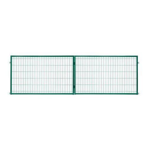Brama panelowa 2d 400 x 120 cm oczko 5 x 20 cm ocynk zielony marki Polbram steel group