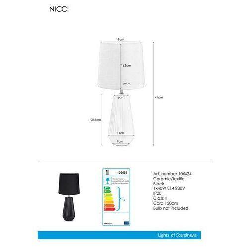 Lampa lampka oprawa stołowa Markslojd Nicci 1x40W E14 czarna 106624 >>> RABATUJEMY do 20% KAŻDE zamówienie!!!