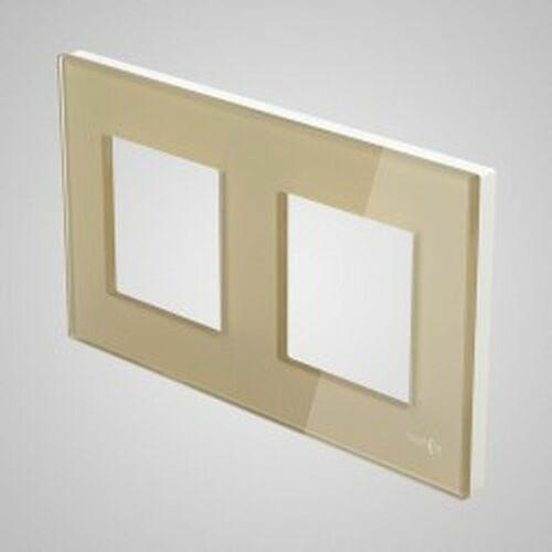 TouchMe Ramka podwójna szklana złota TM716G (5902273844488)