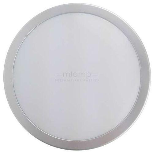 Eko-light Plafon lampa sufitowa ek736 ścienna oprawa kinkiet led 12w 3000k okrągły ip65 srebrny biały vento 1