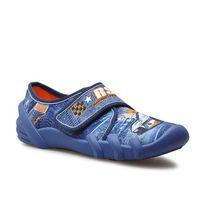 Kapcie dziecięce 273y252 niebieskie samochód marki Befado
