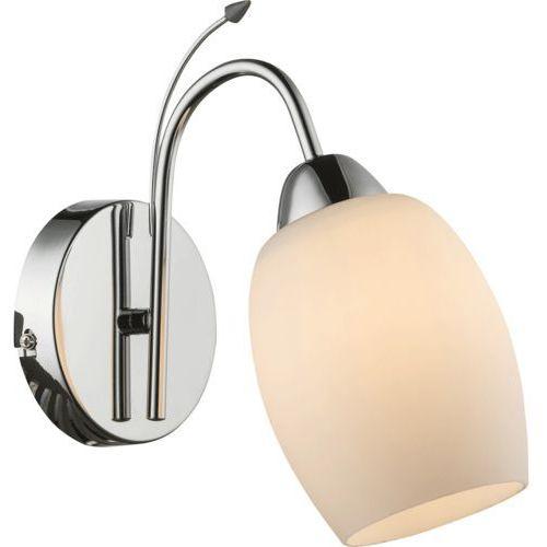 Kinkiet lampa oprawa ścienna Globo Pessoa II 1x60W E27 biały/chrom 54709W (9007371335411)
