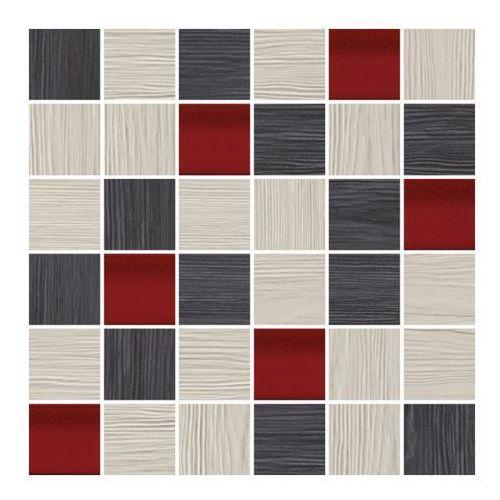 Cersanit Mozaika deco 29,7 x 29,7 cm szaro-czerwona