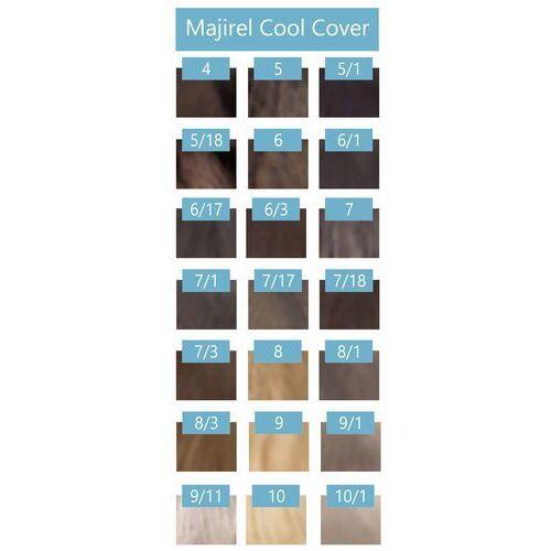 majirel cool cover farba zimne odcienie chłodnych blondów 50ml + oxydant 75ml 4 brąz 6 % - 20 vol. marki Loreal