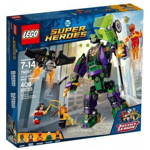 Klocki super heroes starcie z mechem lexa luthora marki Lego