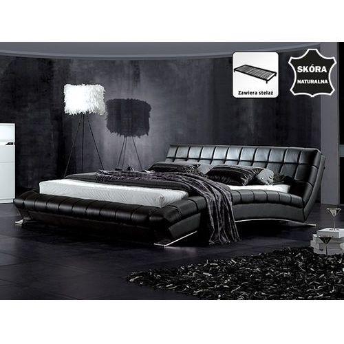 OKAZJA - Beliani Nowoczesne skórzane łóżko 160x200 cm - lille (7081456931080)
