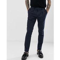 skinny trousers in navy pinstripe - navy marki Burton menswear