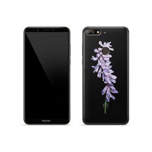 Etuo crystal design Huawei honor 7c - etui na telefon crystal design - fioletowy kwiat