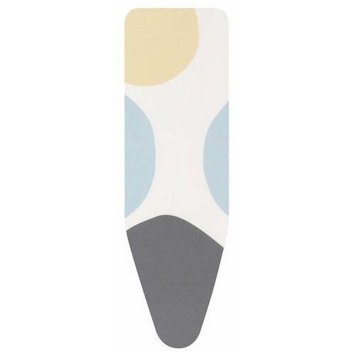 Brabantia - pokrowiec na deskę do prasowania 135 x 45cm - pianka 8mm - strefa heat resistant - spring bubbles - wielokolorowy (8710755131523)