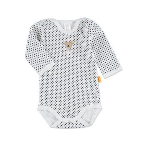 Steiff baby body z długim rękawem bright white (4048043971341)