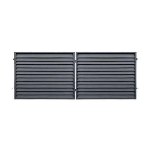 Polbram Brama dwuskrzydłowa kreta 400 x 150 cm antracyt (5901122310686)