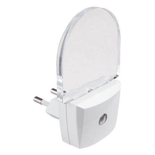 Rabalux Lampka do gniazdka wtykowa paris lux 1x0,5w led biała/transparentny 4658
