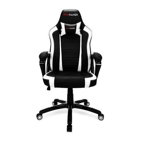 Fotel gamingowy atilla biały dla graczy marki Pro-gamer
