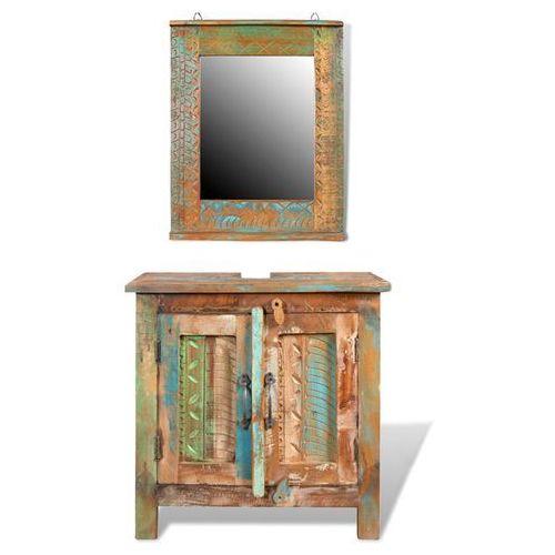 vidaXL Drewniana szafka łazienkowa z lustrem (8718475882060)
