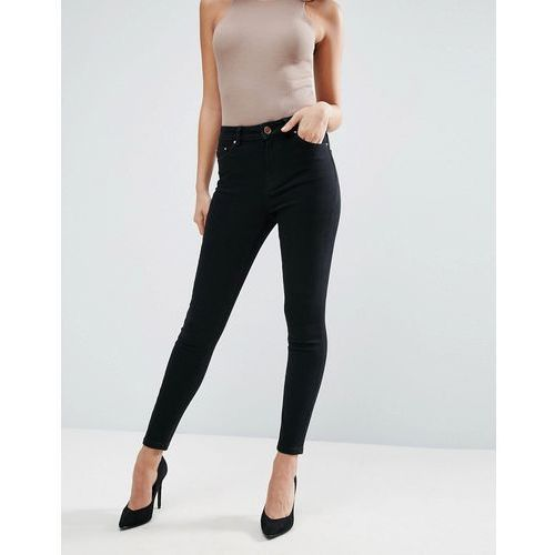 ASOS Ridley High Waist Skinny Jeans in Clean Black - Black, jeans
