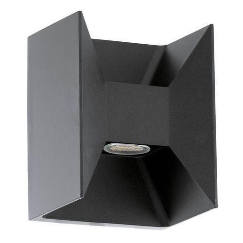 Eglo Kinkiet zewnętrzny morino 93319 lampa ścienna 2x2,5w led ip44 antracyt (9002759933197)