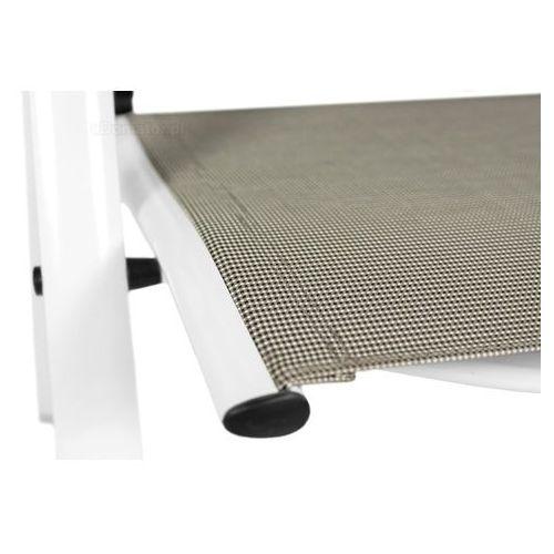 Krzesło ogrodowe składane aluminiowe verona vetro - białe marki Edomator.pl