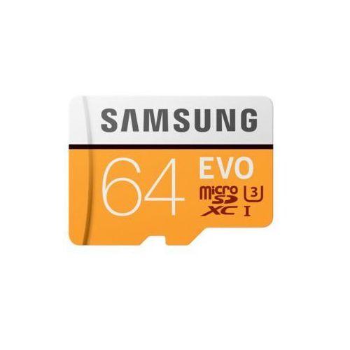 Samsung Karta pamięci microsdxc 64gb evo mb-mp64ga/eu + adapter (8806088676517)