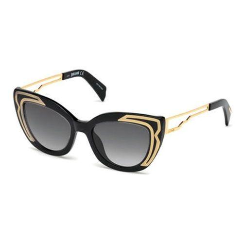 Okulary Słoneczne Just Cavalli JC 791S 01B, kolor żółty