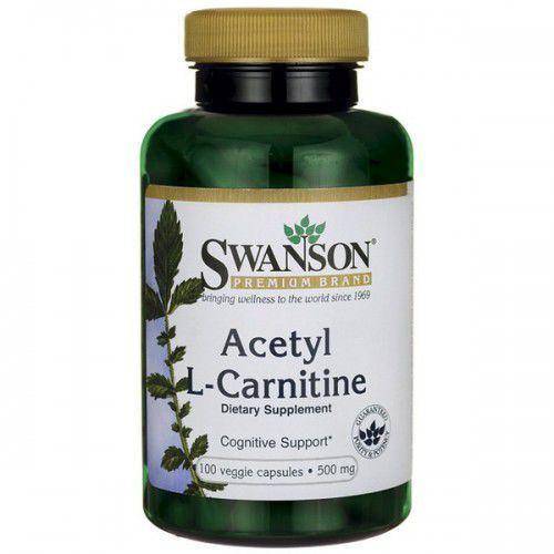 Swanson acetyl l-karnityny (alc) 500mg - (100 kap) (0087614116495)