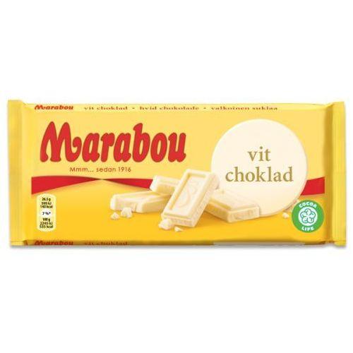 Marabou - Vit - biała czekolada - 185g - ze Szwecji