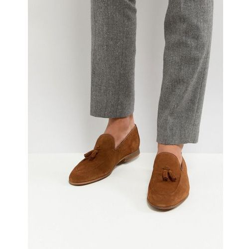 suede loafers with tassels in tan - tan marki River island