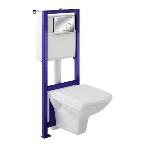 Cersanit Zestaw podtynkowy wc silva z deską wolnoopadającą