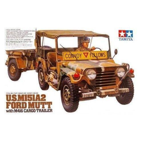 Ford mutt m151a2 z przyczepą m416 marki Tamiya