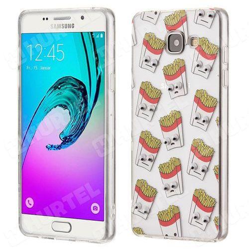 Żelowy pokrowiec etui oczy Googly Eyes Samsung Galaxy A3 2016 A310 frytki przezroczysty - frytki (żel, maść do oczu)